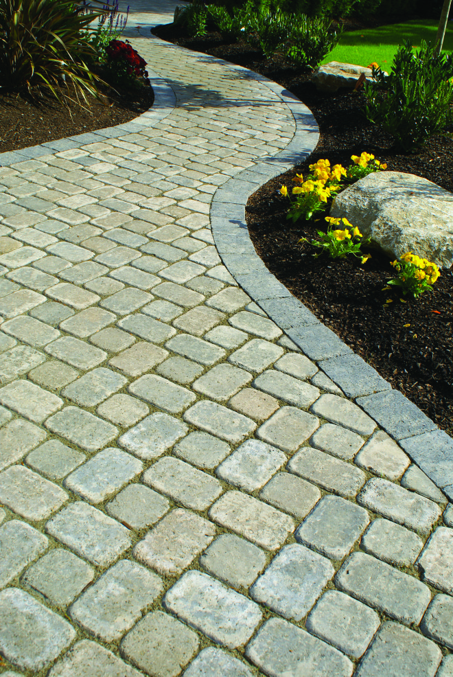Path with Roman Dominion pavers- Summit Blend